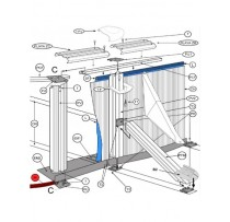 PERFIL PVC INFERIOR CURVO 730/610 PARA PISCINAS GRE