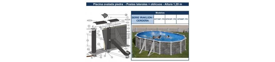 REPUESTOS PISCINAS GRE PIEDRA SERIE IRAKLION / CERDEÑA