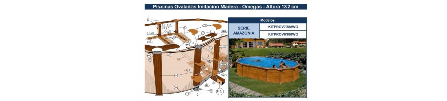REPUESTOS PISCINAS GRE IMITACION MADERA SERIE AMAZONIA