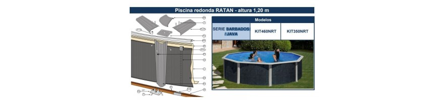 REPUESTOS PISCINAS GRE SERIE BARBADOS / JAVA