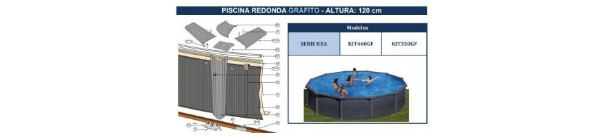 REPUESTOS PISCINAS GRE GRAFITO SERIE KEA