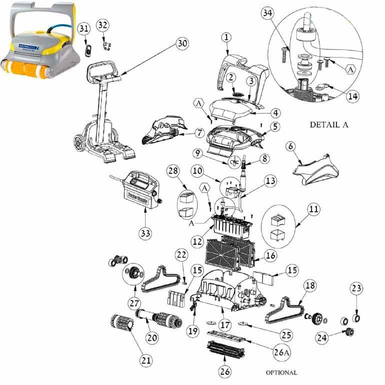 RECAMBIOS ASTRALPOOL DOLPHIN PULIT E80